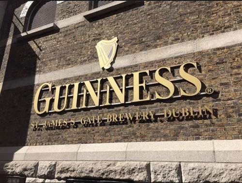 The Guinness St James' Gate Brewery em Dublin, Irlanda