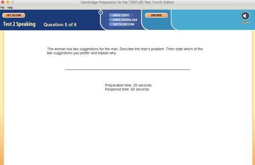 Cambridge TOEFL simulado falando pergunta 5, tenha muito cuidado! A ETS colocou armadilhas aqui para induzi-lo a responder a pergunta do exame TOEFL incorretamente. Você deve ler a pergunta com muito cuidado