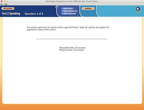O Exame TOEFL simulado, O ETS perguntará sobre o que o homem ou a mulher dizem na pergunta 3 do teste TOEFL falando