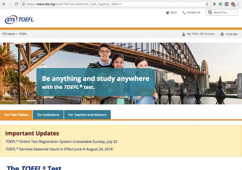 ETS-TOEFL-Homepage