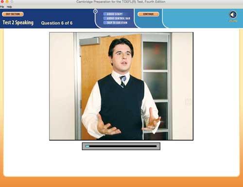 Pergunta-6-TOEFL simulado, você precisa treinar sua audição muito bem como o falante fala inglês muito rapidamente e pode haver inglês técnico