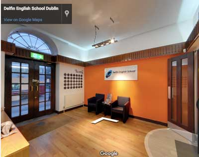 Dentro Delfin English School escolas de Ingles em Dublin
