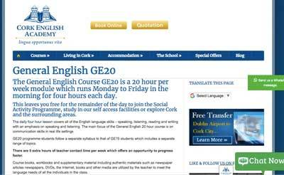 Cork English Academy pagina inicial escolas de ingles em cork
