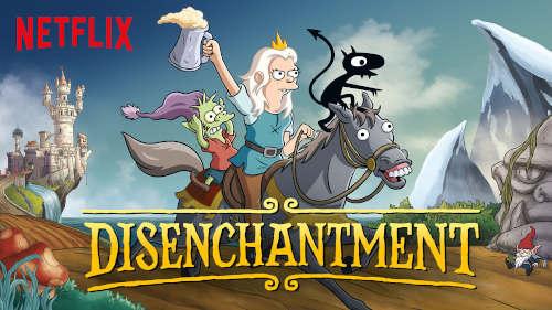 Desenhos Animados Para Aprender Inglês na Netflix disenchantment