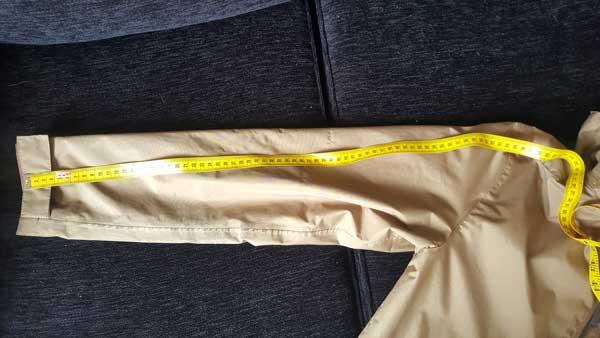 medidas de roupa em inglês tamanho da manga